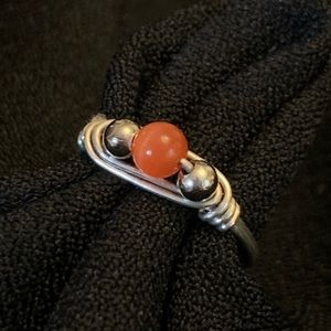 Sterling silver wrap ring size 5.5